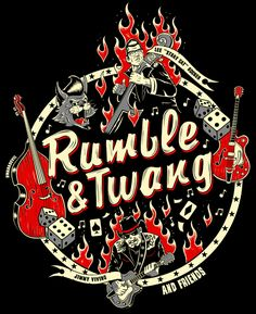 Logo design created by BwanaDevil for the Stray Cat Lee Rocker and Jimmy Vivino's Rumble and Twang