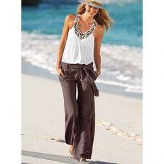 Linen pants for women Pictures