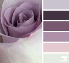 Bedroom colors schemes purple design seeds 26 Ideas for 2019 Bedroom Color Schemes, Bedroom Paint Colors, Colour Schemes, Color Combos, Mauve Bedroom, Purple Master Bedroom, Design Seeds, Lavender Color Scheme, Colour Pallette
