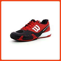 best sneakers bd79f cc5f7 Wilson Rush Pro, Damen Tennisschuhe mehrfarbig rot  schwarz  weiß EU 47