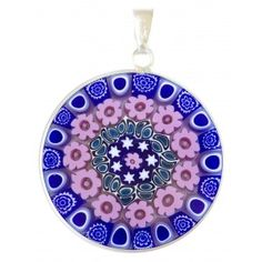 Millefiori pendant. Authentic Venetian glass pendant. Murrina Millefiori