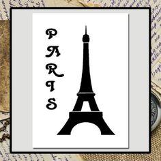 NEW-5-X-7-Eiffel-Tower-w-Word-PARIS-Craft-STENCIL-Vintage-French-Chic-Travel