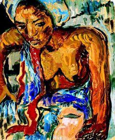 Irma Stern - Woman with a Jug . South African Design, South African Artists, Contemporary African Art, African American Artist, Africa Art, Art Station, Art Database, Art For Art Sake, Statue