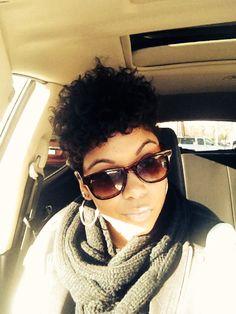 Loving my curls! Tapered TWA