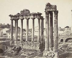 Louis-Auguste Bisson & Auguste-Rosalle Bisson Los templos de Saturno y Concordia en el Foro Romano, 1860. Colodión húmedo.