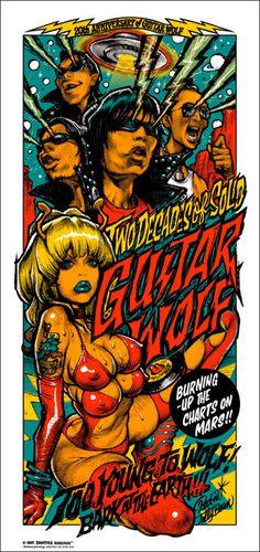 Guitar Wolf 20th Anniversary poster by Rockin' Jellybean
