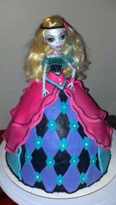 Monster high doll cake by the SUGAR FAIRIES