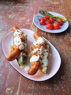 PUNAVUORI GOURMET: Leivättömät hot dogit!