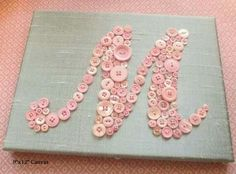 """Monogram letter """"M"""" button art...make yours personal"""