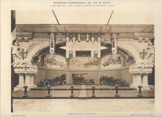 L'Edilizia Moderna - Tavola XLVIII - La Mostra della Ditta S. Giorgio di Genova nel Padiglione dell'Automobilismo e Ciclismo