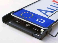 AluFixx 2.0 schwarz matt eloxiert Nummernschildhalter Kennzeichenhalter PKW aus Aluminium