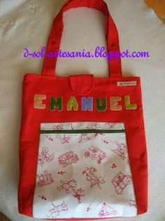 Doña Sol - Artesanía textil: Bolsa infantil para el cochecito