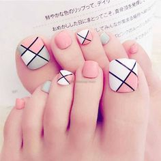 Find great deals for Foot False Nail Tips Cute Fake Toes Nails With Glue Toe Art Tool. Toe Nail Color, Toe Nail Art, Nail Colors, Nail Nail, Nail Art Designs, Cute Toenail Designs, Design Art, Nail Designs For Toes, Pedicure Nail Designs