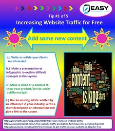 Tips in increasing website traffic for free. ** Learn more at the image Facebook Marketing, Internet Marketing, Online Marketing, Marketing Tools, Social Media Marketing, Event Marketing, Make A Presentation, Info Board, Business Funding