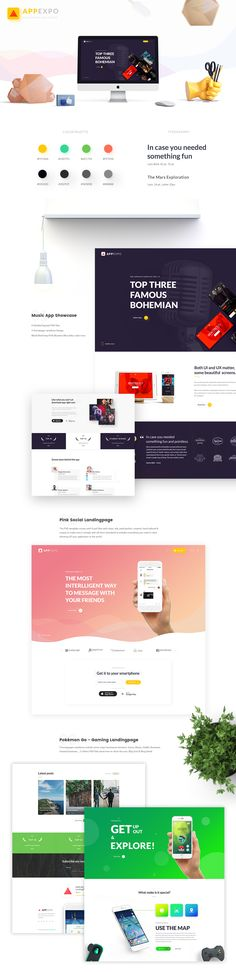 AppExpo is a creative & unique Multipurpose App LandingPage PSD Template. You can use it as An Application Exhibition, Expo, landing page.In this design, I have used some elements from PSD Freebie by Invision and variations of it to become richer. Hope …