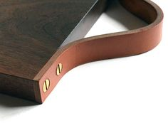 Wood & Leather Serving Board