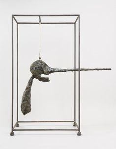Alberto Giacometti - The Nose ( Le nez ) 1949 (cast Bronze, wire, rope, and steel 31 x 28 x 15 inches x x cm) Solomon R. Guggenheim Museum, New York - Alberto Giacometti, Giovanni Giacometti, Schirn Frankfurt, Antoine Bourdelle, Statues, Tate Gallery, Art Sculpture, Abstract Sculpture, Plastic Art