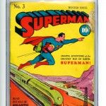 Superman Comic Book #3 CGC 2 White Pages Front Cover