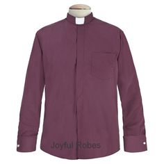 StunningBurgundy Color     Generous Back Pleat     Comfortable Full Cut     Features French Cuffs     Long-Sleeves     Includes 1 Tab Insert...