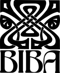 John McConnell's 1963 logo for fashion boutique Biba. #highstreet #DesignMuseumShop  via @wayneford