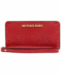 MICHAEL Michael Kors Jet Set Travel Slim Tech Wristlet - I saw this at Macy's and it's gorgeous!