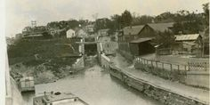 Old Champlain Canal Northside in Waterford New York.