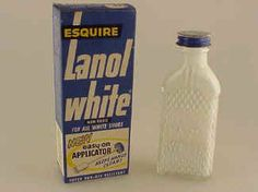 Polish those saddle shoes with Lanol White! .....My job to do my white sneakers or saddle shoes and my baby brother's baby shoes.