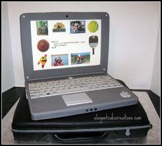 Cake Laptop Designs : laptop cake tutorial Cake Deco & Tutorials Pinterest ...