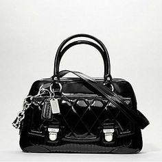 Coach POPPY LIQUID GLOSS PUSHLOCK SATCHEL bag