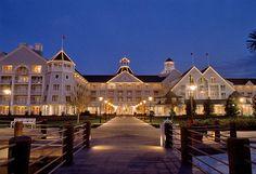 Disney's Yacht Club Deluxe Resort at Night