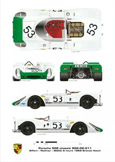 Porsche 908 (cn 902-02-011) driven by Siffert/Redman in the BOAC 6 Heures at Brands Hatch 1969
