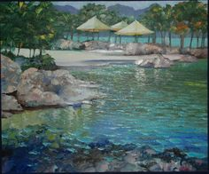 "Original Painting ""Caribbean Holiday VII"" by Howard Behrens Selling Art Online, Online Art, Scenery Paintings, Art Paintings, Beach Scenery, Popular Artists, Online Painting, Fine Art Gallery, Artist Painting"
