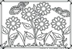 realistic flower coloring pages free online printable coloring pages, sheets for kids. Get the latest free realistic flower coloring pages images, favorite coloring pages to print online by ONLY COLORING PAGES. Printable Flower Coloring Pages, Garden Coloring Pages, Spring Coloring Pages, Animal Coloring Pages, Coloring Pages To Print, Coloring Book Pages, Coloring Pages For Kids, Colouring Sheets, Kids Coloring