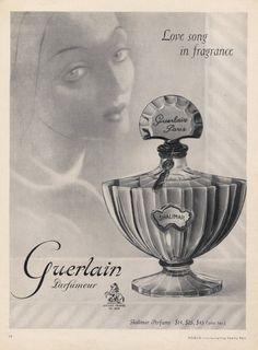Perfume Ads: Guerlain Shalimar vintage ads