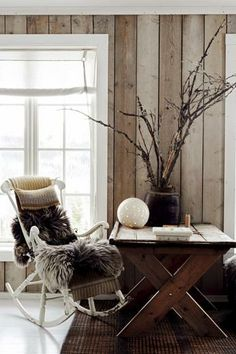Hanna Borg's Norwegian Cabin - Modern Rustic by Emily Henson. Foster House, Small Lounge, Living Spaces, Living Room, Timber Wood, Le Far West, Modern Rustic, Rustic Chic, Shop Interior Design