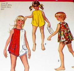 Uncut Sewing Pattern Girls Size 10  Summer by hookandneedlepattern, $7.00