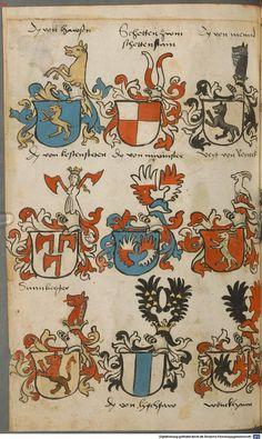 Wappen besonders von deutschen Geschlechtern Süddeutschland ?, 1475 - 1560 Cod.icon. 309  Folio 54v