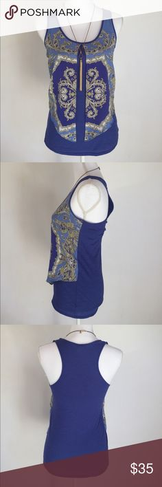 Leifnotes Blue Patterned Tank, XS This beautiful Leifnotes Blue Patterned Tank, XS is perfect for your every day outings! EXCELLENT CONDITION, NO DEFECTS AND COMES FROM A SMOKE FREE HOME! Anthropologie Tops Tank Tops