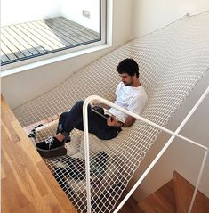 hammock in otherwise wasted space