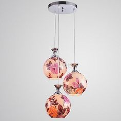 http://www.paccony.com/product/Chinoiserie-Fortune-Peony-Pendant-Lights-with-3-Lights-Round-Mount-20307.html# $159.99 Free Shipping Chinoiserie Fortune Peony Pendant Lights with 3 Lights Round Mount