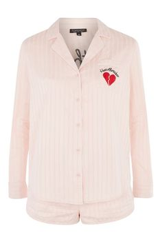 Embroidered Heartbreaker Pyjama Set