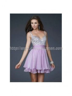 A-line Straps Timeless Style Chiffon Homecoming Dresses CHHD-30149 with Beading
