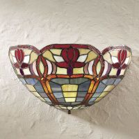 Wireless Stained Glass Wall Sconce - Stylish Home Accents and Décor - Graceful Clothing, Accessories & Jewelry Rustic Wall Sconces, Candle Wall Sconces, Outdoor Wall Sconce, Rustic Walls, Stained Glass Lamps, Stained Glass Patterns, Art Deco, Tiffany Lamps, Grey Walls