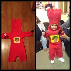 DIY red sour patch kid halloween costume