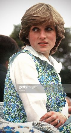 Lady Diana Spencer, the future Diana, Princess of Wales (1961 - 1997) at a polo match in Hampshire, 1981. It was on this occasion that she was driven to tears by press intrusion.