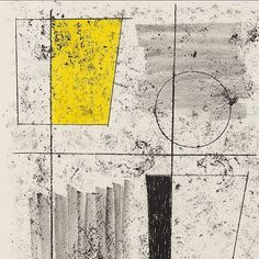 Artwork by Barbara Hepworth, Three Forms Assembling, Made of Lithograph printed in black and yellow Barbara Hepworth, Abstract Sculpture, Wood Sculpture, Metal Sculptures, Bronze Sculpture, Abstract Drawings, Abstract Art, Modern Art, Contemporary Art