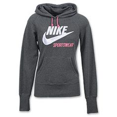 The Nike Gym Lineup hoodie offers a comfortable fit with a cute, sporty look. Lined with a soft fleece that locks in heat and made with a slim, flattering fit. Features hood with drawstring, classic Nike logo, kangaroo pouch and rib cuffs. Something sporty...