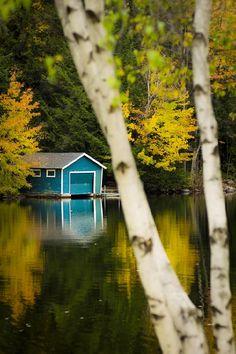 Autumn boathouse