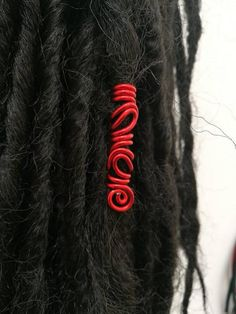 Brilliant Red freestyle dreadlocks cuff by ZAYUNU on Etsy