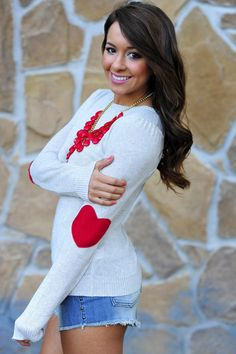 Bottom Of My Heart Sweater: Deep Red | Hope's